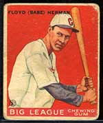 1933 Goudey #5 Floyd (Babe) Herman Chicago Cubs - Front