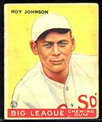 1933 Goudey #8 Roy Johnson Boston Red Sox - Front