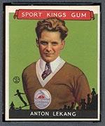 1933 Goudey Sport Kings #10 Anton Lekang Skiing - Front