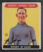 1933 Goudey Sport Kings #12 Bobby McLean Ice Skating - Front
