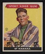 1933 Goudey Sport Kings #15 Reggie McNamara Bicycling - Front