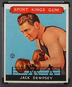 1933 Goudey Sport Kings #17 Jack Dempsey Boxing - Front