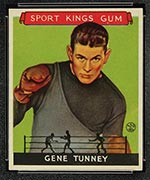 1933 Goudey Sport Kings #18 Gene Tunney Boxing - Front