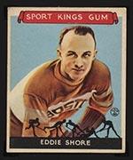 1933 Goudey Sport Kings #19 Eddie Shore Hockey - Front