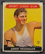 1933 Goudey Sport Kings #21 Johnny Weissmuller Swimming - Front