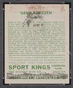 1933 Goudey Sport Kings #22 Gene Sarazen Golf - Back