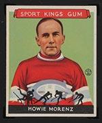 1933 Goudey Sport Kings #24 Howie Morenz Hockey - Front