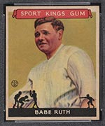1933 Goudey Sport Kings #2 Babe Ruth Baseball - Front