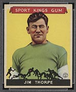 1933 Goudey Sport Kings #6 Jim Thorpe Football - Front