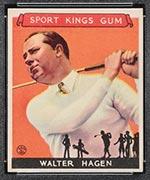 1933 Goudey Sport Kings #8 Walter Hagen Golf - Front
