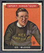 1933 Goudey Sport Kings #9 Ed Blood Skiing - Front