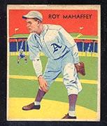 1934-1936 R327 Diamond Stars #10 Roy Mahaffey (1934) Philadelphia Athletics - Front