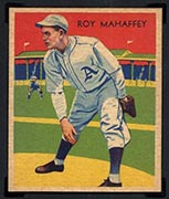 1934-1936 R327 Diamond Stars #10 Roy Mahaffey (1935) Philadelphia Athletics - Front