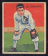 1934-1936 R327 Diamond Stars #2 Al Simmons (1934) Chicago White Sox - Front