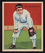 1934-1936 R327 Diamond Stars #2 Al Simmons (1936) Detroit Tigers - Front