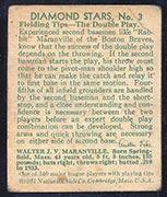 "1934-1936 R327 Diamond Stars #3 ""Rabbit"" Maranville (1934) Boston Braves - Back"
