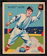 "1934-1936 R327 Diamond Stars #4 ""Buddy"" Myer (1935) Washington Senators - Front"