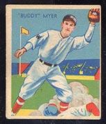 "1934-1936 R327 Diamond Stars #4 ""Buddy"" Myer (1936) Washington Senators - Front"