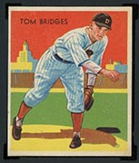 1934-1936 R327 Diamond Stars #5 Tom Bridges (1934) Detroit Tigers - Front
