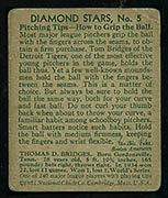 1934-1936 R327 Diamond Stars #5 Tom Bridges (1935) Detroit Tigers - Back
