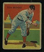 1934-1936 R327 Diamond Stars #5 Tom Bridges (1935) Detroit Tigers - Front