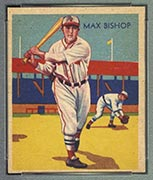 1934-1936 R327 Diamond Stars #6 Max Bishop (1935) Boston Red Sox - Front