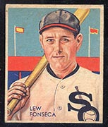 1934-1936 R327 Diamond Stars #7 Lew Fonseca (1934, 34 years old) Chicago White Sox - Front