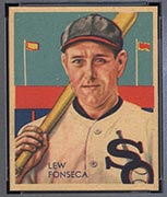 1934-1936 R327 Diamond Stars #7 Lew Fonseca (1934, 35 years old) Chicago White Sox - Front