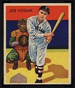 1934-1936 R327 Diamond Stars #8 Joe Vosmik (1934) Cleveland Indians - Front