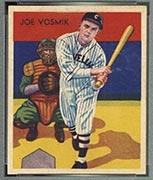 1934-1936 R327 Diamond Stars #8 Joe Vosmik (1935) Cleveland Indians - Front
