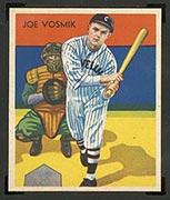 1934-1936 R327 Diamond Stars #8 Joe Vosmik (1936) Cleveland Indians - Front