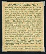 "1934-1936 R327 Diamond Stars #9 ""Mickey"" Cochrane (1934) Detroit Tigers - Back"
