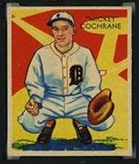 "1934-1936 R327 Diamond Stars #9 ""Mickey"" Cochrane (1934) Detroit Tigers - Front"