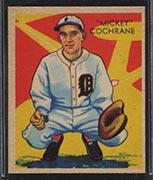 "1934-1936 R327 Diamond Stars #9 ""Mickey"" Cochrane (1935) Detroit Tigers - Front"
