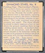"1934-1936 R327 Diamond Stars #9 ""Mickey"" Cochrane (1936) Detroit Tigers - Back"