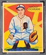 "1934-1936 R327 Diamond Stars #9 ""Mickey"" Cochrane (1936) Detroit Tigers - Front"