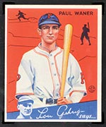 1934 Goudey #11 Paul Waner Pittsburgh Pirates - Front