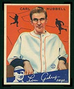 1934 Goudey #12 Carl Hubbell New York Giants - Front