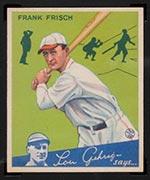 1934 Goudey #13 Frank Frisch St. Louis Cardinals - Front