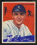 1934 Goudey #14 Willie Kamm Cleveland Indians - Front