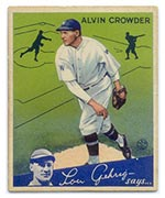1934 Goudey #15 Alvin Crowder Washington Senators - Front