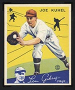 1934 Goudey #16 Joe Kuhel Washington Senators - Front