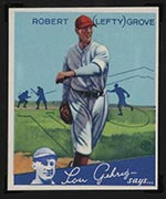 1934 Goudey #19 Robert (Lefty) Grove Boston Red Sox - Front