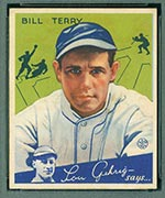 1934 Goudey #21 Bill Terry New York Giants - Front