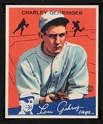 1934 Goudey #23 Charley Gehringer Detroit Tigers - Front