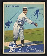 1934 Goudey #24 Ray Benge Brooklyn Dodgers - Front