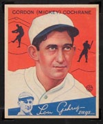 1934 Goudey #2 Mickey Cochrane Detroit Tigers - Front
