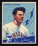 1934 Goudey #3 Charlie Grimm Chicago Cubs - Front