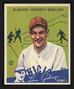 1934 Goudey #4 Elwood (Woody) English Chicago Cubs - Front