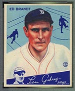 1934 Goudey #5 Ed Brandt Boston Braves - Front